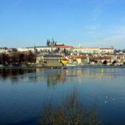 Praga - Zamek Praski i część Mostu Karola