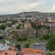 Tbilisi - widok z Twierdzy Narikala