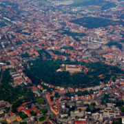Brno - Twierdza Spilberk z lotu ptaka